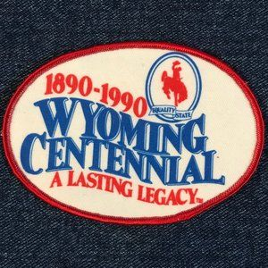 Wyoming Centennial 1890-1990 patch